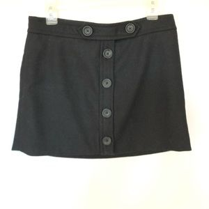 60's Style Gap Wool Button Lined Mini Skirt Sz 4